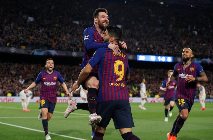 Kemenangan Barcelona atas liverpool dengan skor telak 3-0